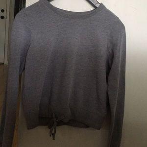 Hollister Gray tie front sweatshirt